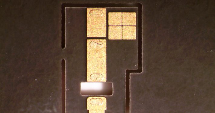 Duriod Stripline Circuit laser cut - Accu-Tech Laser Processing