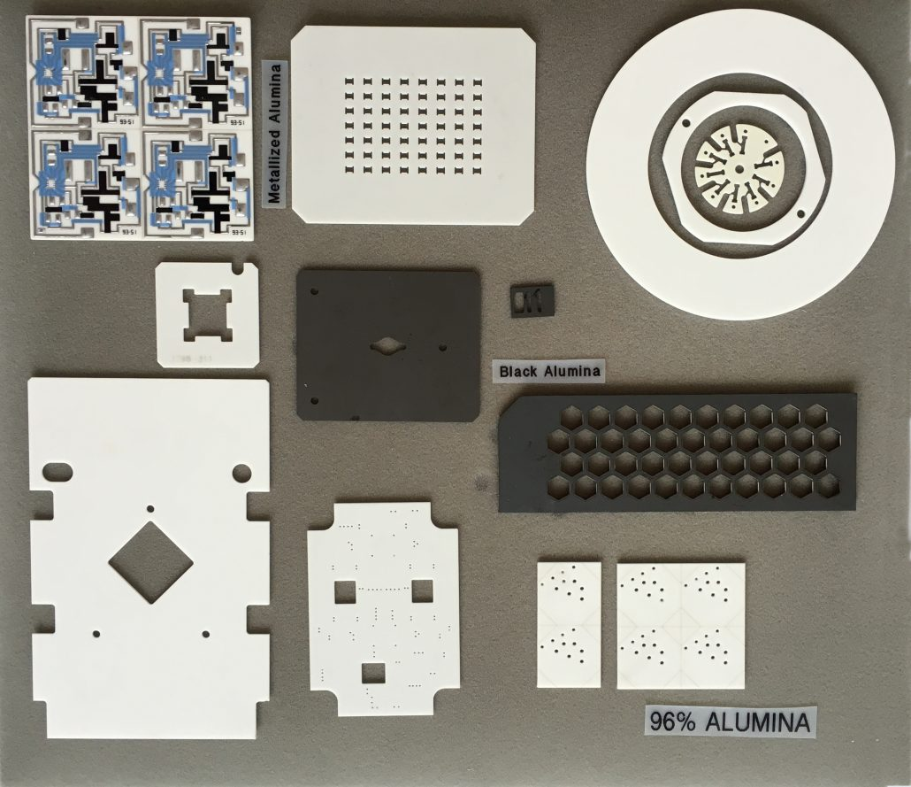 Examples of Laser machining of Ceramics