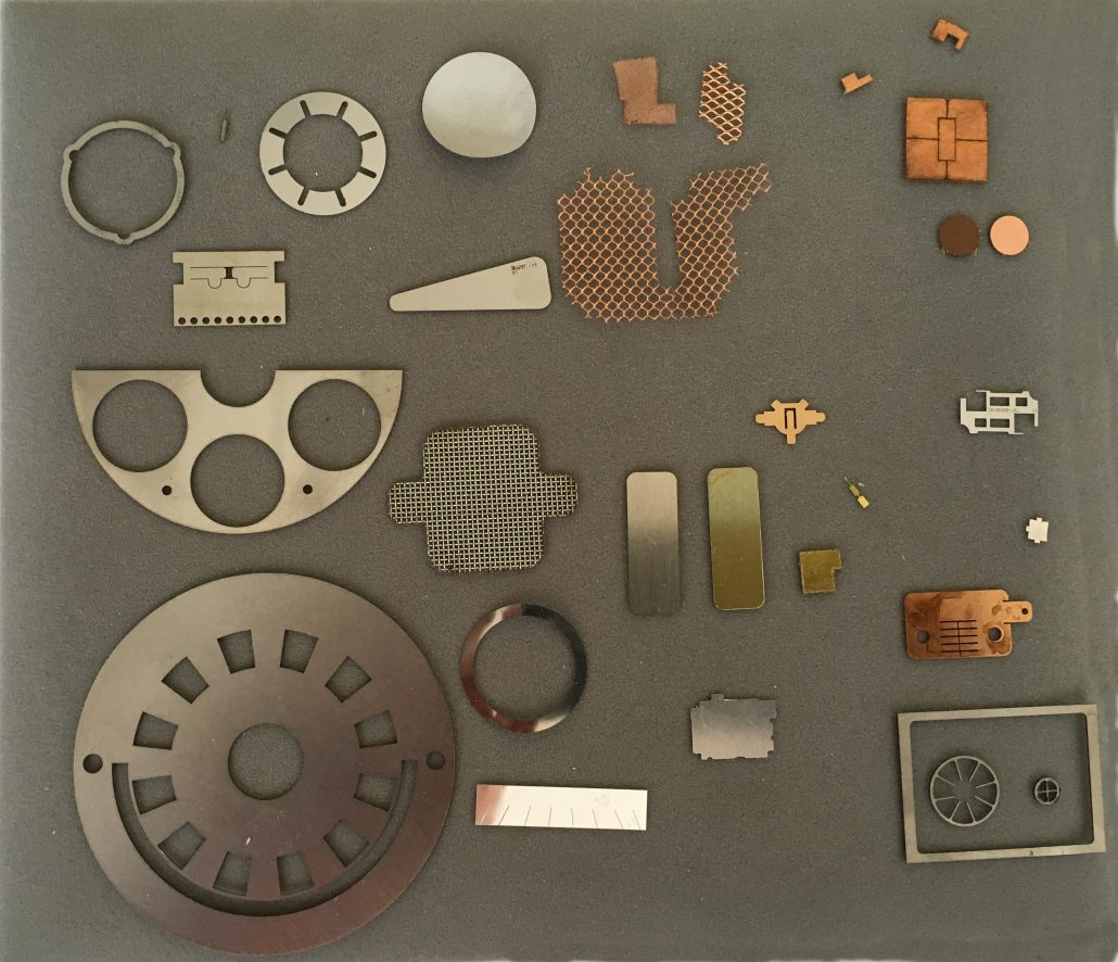 Thin sheet metals for laser cutting include Stainless Steel, Brass, Copper, Titanium, Aluminum. Silver