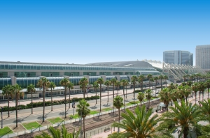 sunny day view of San Diego Convention Center
